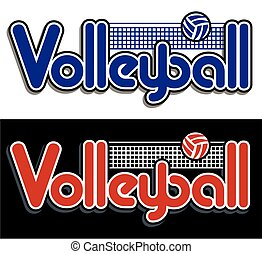 volleyball design with net and ball