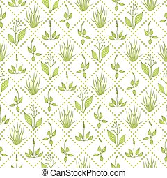 Seamless pattern with grass - Seamless pattern with green...