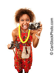 Funny African-American Tourist - Funny African American...