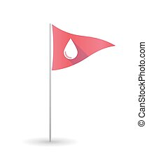 Golf flag with a blood drop - Illustration of a golf flag...
