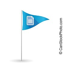 Golf flag with a document - Illustration of a golf flag with...
