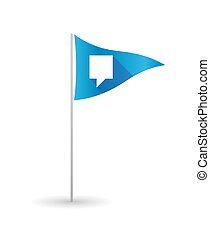 Golf flag with a tooltip - Illustration of a golf flag with...