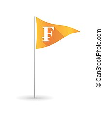 Golf flag with a swiss franc sign - Illustration of a golf...