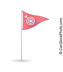 Golf flag with a dart board - Illustration of a golf flag...