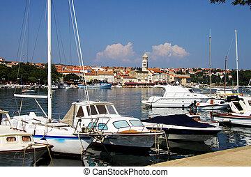 Old Town of Krk, Croatia - View of Old Town of Krk, Croatia