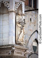 estatua, de, el, Cappella, Di, plaza,