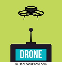 Drones - Isolated drone on a colored background Vector...