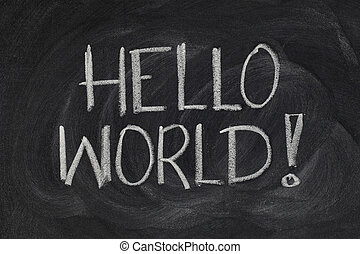 Hello, World! - message from the first computer program -...