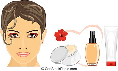 Cosmetic liquid foundation and cream for removing makeup....