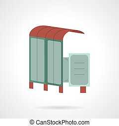 Bus station flat vector icon - Simple flat color vector icon...