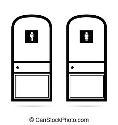 toilet icon vector illustration on white