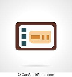 Control panel flat vector icon