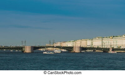 View of the Palace bridge in StPetersburg, Russia