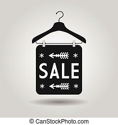 Clothing hanger SALE signage icon