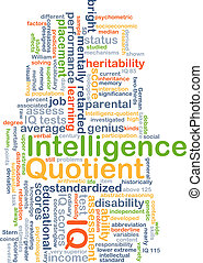 Intelligence quotient IQ background concept - Background...