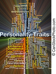 Personality traits background concept glowing - Background...