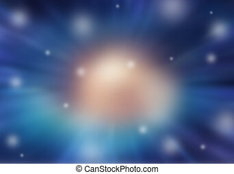 Blurred space - Blurred nature, abstract Stars of a planet...