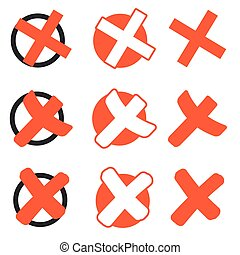 collection red crosses