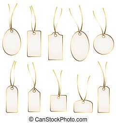 hangtag collection white and gold - collection of different...