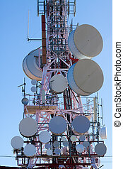 Telecommunications antenna for radio, TV  and telephony