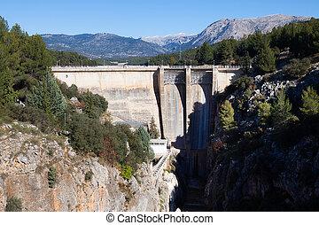 Dam at Guadalentin river.  Andalusia, Spain