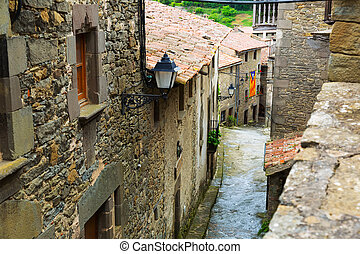 picturesque houses in mountains village.  Catalonia