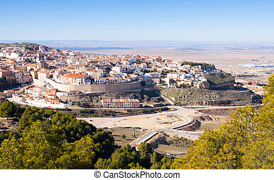 Spanish town at hill. Chinchilla de Monte-Aragon - spanish...