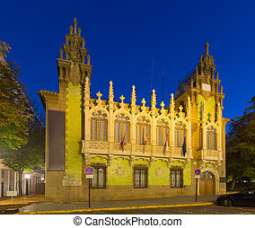 Evening view of knife museum in Albacete Spain - Evening...