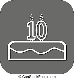 birthday cake with candles number 10 - Birthday cake with...