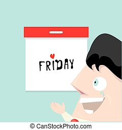 thanks god it is friday concept. i love friday - vector...
