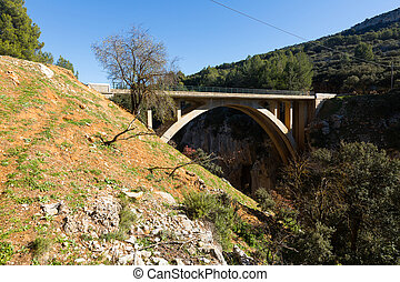 Road bridges in mountains.  Andalusia