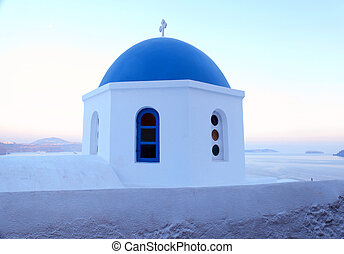 Santorini church, Oia, Greece