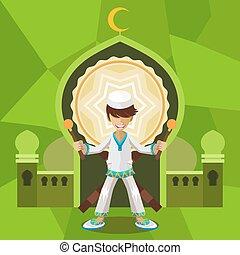 Ramadan Celebration - Illustration of Islamic Moslem Holiday...