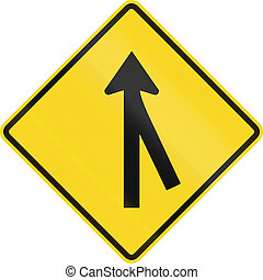 Intersection Ahead In Canada - Canadian road warning sign -...