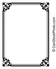 simple black ornamental decorative frame