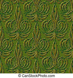 abstract floral green seamless background