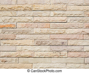 Pattern sandstone wall background and texture - Close up...