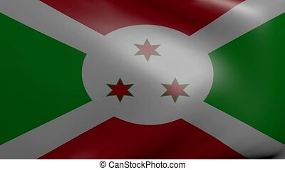 burundi strong wind flag