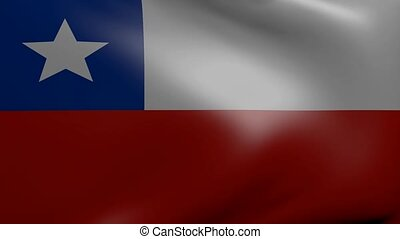 chile strong wind flag