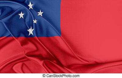 Samoa, Flag., ,