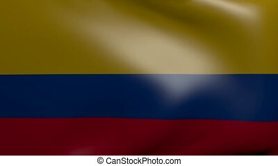 colombia strong wind flag
