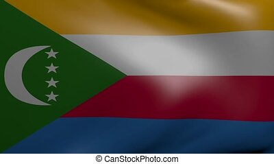 comoros strong wind flag