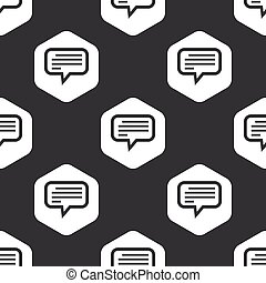 Black hexagon text message pattern - Image of text message...