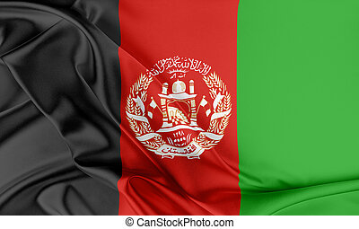 Afghanistan Flag Flag with a beautiful glossy silk texture