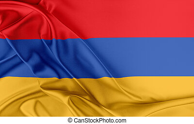 Armenia Flag Flag with a beautiful glossy silk texture