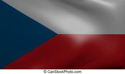 czech strong wind flag