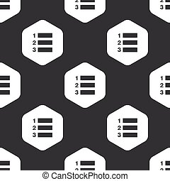 Black hexagon numbered list pattern - Image of numbered list...