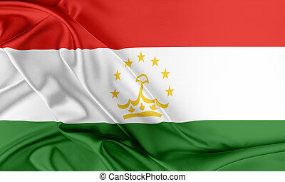 Tajikistan Flag Flag with a beautiful glossy silk texture