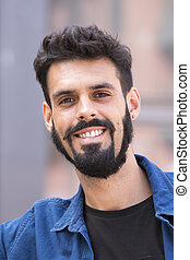Young man with beard
