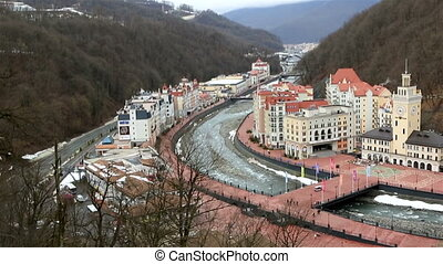 Rosa Khutor Alpine Resort - Sochi, Russia - February 13,...
